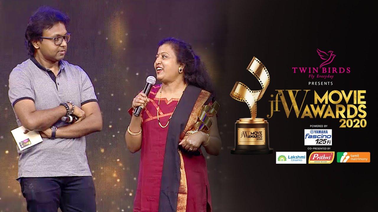 Best Lyricist Thamarai makes Imman sing uncut version of Kannaana Kanney|Viswasam|JFW Movie Awards