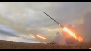 War games: Russia's self-propelled multiple rocket launcher system in action