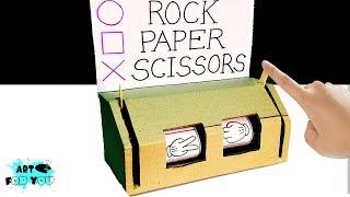 How to make Rock Paper Scissors  Play Machine With Cardboard | DIY Cardboard Game