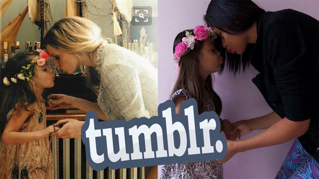 Imitando Fotos Tumblr Mãe E Filhamenina De Prata Youtube
