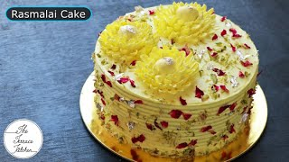 Eggless Rasmalai Cake Recipe without Oven  Valentine&#39s Day Special  The Terrace Kitchen