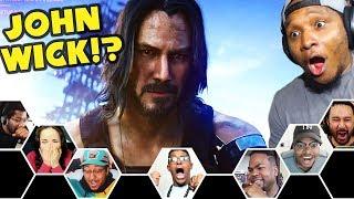 Reactors Reaction To Keanu Reeves EPIC Reveal In Cyberpunk 2077