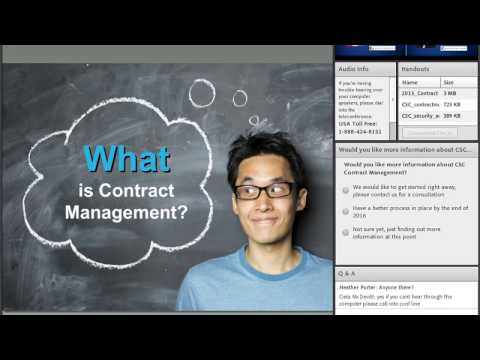 Contract Management 101