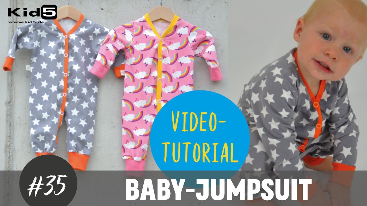 baby jumpsuit einteiler ganz einfach selber n hen diy n h tutorial youtube. Black Bedroom Furniture Sets. Home Design Ideas