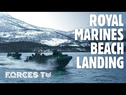 How Royal Marines Conduct Beach Landings In The ARCTIC CIRCLE | Forces TV