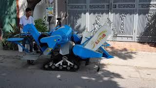 Máy gặt liên hoàn Mini Kamast  lên đường đi Lạng Sơn làm giàu cho quê hương . Lh 0966399628