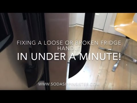 HOW TO FIX YOUR BROKEN FRIDGE HANDLE IN LESS THAN A MINUTE!