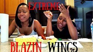 Extreme Blazin Buffalo Wild Wings Challenge *Hilarious*