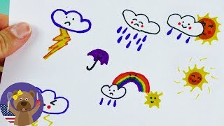 Weather Symbols Kawaii Style | Draw it Yourself!
