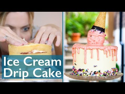 Great British Fake Off - Ice Cream Cone Drip Cake!