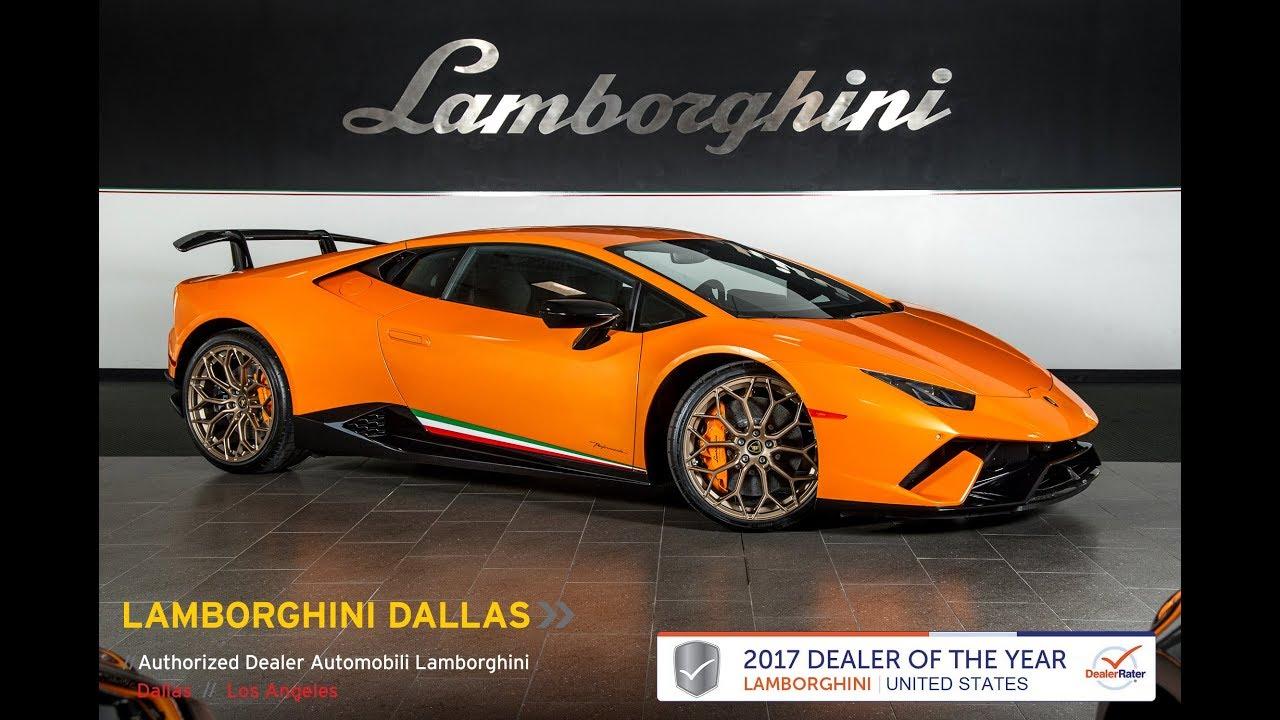 2018 Lamborghini Huracan Performante Arancio Borealis L