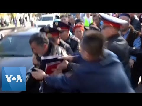 Kazakhstan Police Detain Anti-Government Protesters in Capital