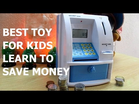 BEST TOY FOR KIDS HOW TO SAVE MONEY - MINI ATM MACHINE COIN BOX PIGGY BANK
