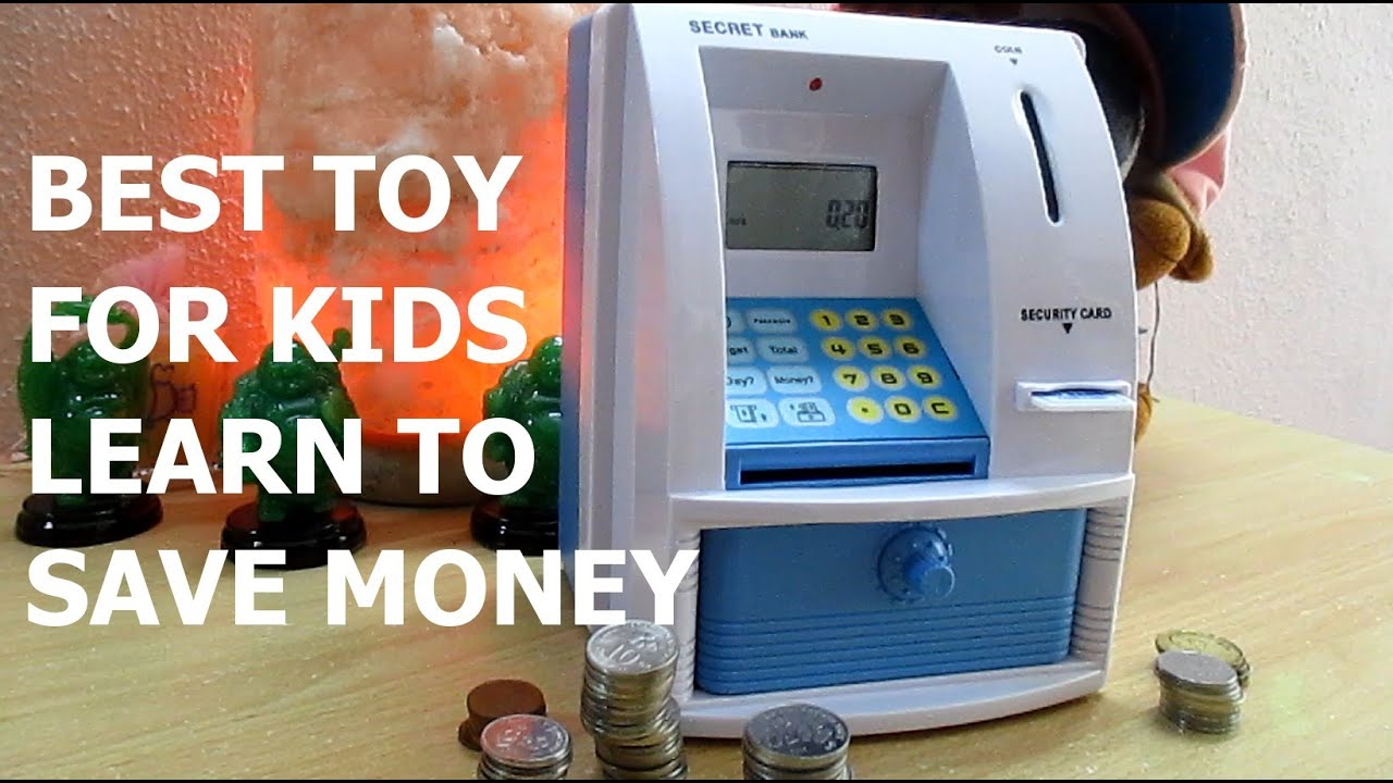 Best Toy For Kids How To Save Money Mini Atm Machine Coin Box Piggy Bank
