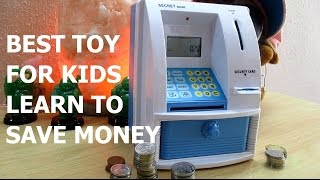 BEST TOY FOR KIDS HOW TO SAVE MONEY - MINI ATM MACHINE COIN BOX