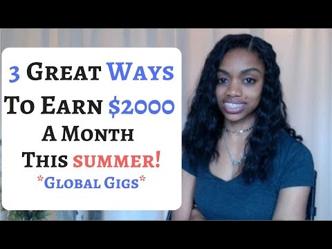 Make An Additional $2000 A Month This Spring/Summer 2018!  Working Part Time
