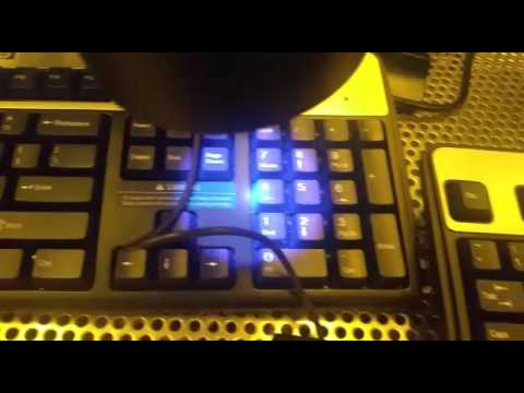 Clean room keyboard under UV light