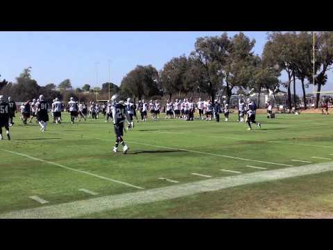 Dez Bryant diggs & catches over Morris Claiborne @ Dallas Cowboys Training Camp 2012 Day 1