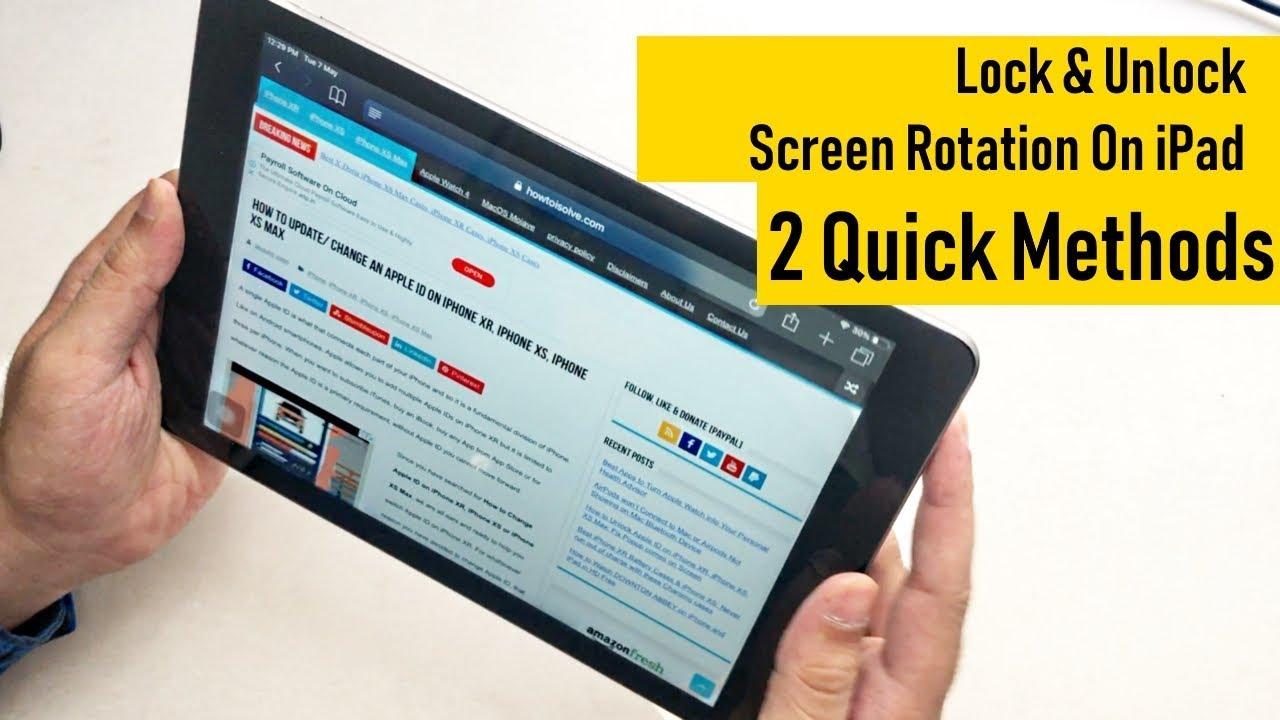 How To Lock Unlock Screen Rotation On Ipad In Ios 14 13 2 Methods Ipad Mini Ipad Pro 2020 Youtube