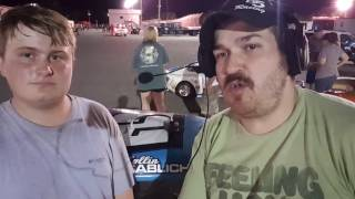 Collin Sablich tells us about his #2 Legend at Sunny South Raceway 8/27/16