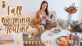 MY FALL MORNING ROUTINE 🍂 COSY, CALM & PRODUCTIVE // AUTUMN 2020 (WORK DAY ROUTINE)
