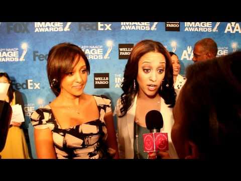 Tia & Tamera at the 42 Annual NAACP Image Awards.MOV