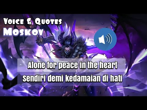 Moskov Voice and Quotes Mobile Legends dan Artinya - YouTube