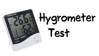 Salt water test on digital hygrometer (HTC-1)