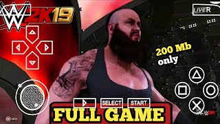 [200MB] REAL WWE 2K19 PPSSPP ANDROID DOWNLOAD WWE 2K19 PSP MOD | ANDRO TECH CP I