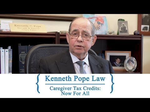 Caregiver Tax Credits: Now For All