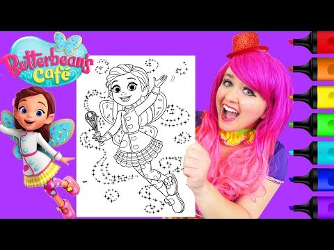 Coloring Butterbean's Caf GLITTER Coloring Page Prismacolor Markers | KiMMi THE CLOWN