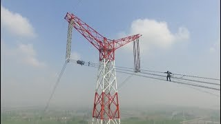 SkywalkingOn The 1100KV Ultra high Voltage Live line in China