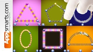 Shapes Tracing Game for Preschoolers by Letter School (Golden Level selected levels)