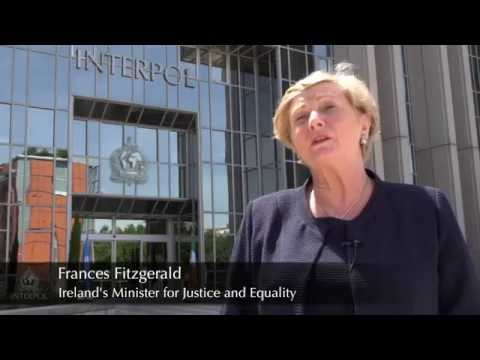 Frances Fitzgerald, Ireland's Minister for Justice and Equality visits INTERPOL