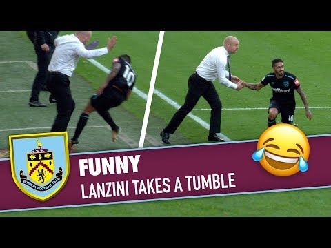 FUNNY | Lanzini Collides With Sean Dyche