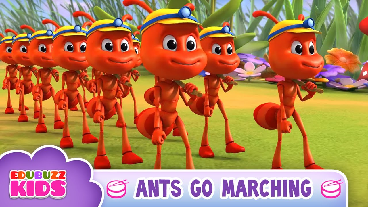Ants Go Marching One By One Song