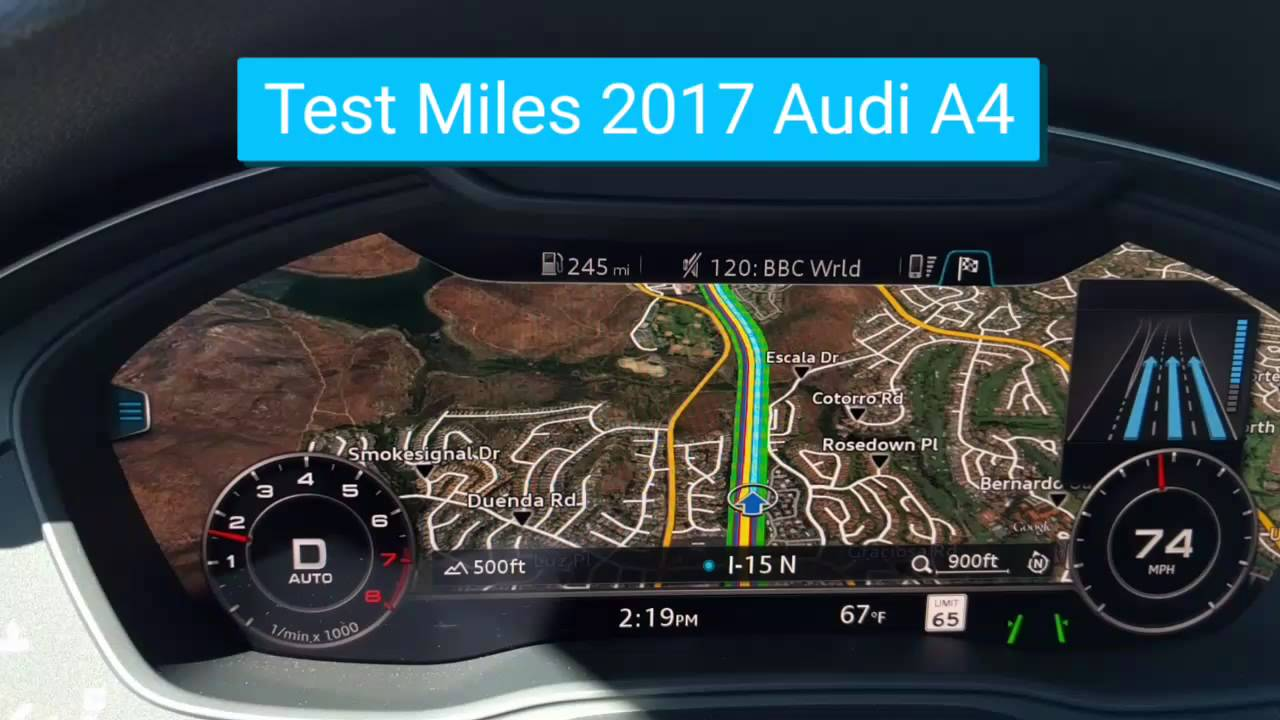 2017 Audi A4 Virtual Dash Youtube