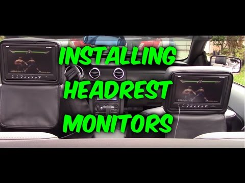 HOW TO INSTALL & WIRING HEADREST MONITORS TO DVD PLAYER  GAME SYSTEM