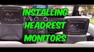 HOW TO INSTALL & WIRING HEADREST MONITORS TO DVD PLAYER / GAME SYSTEM