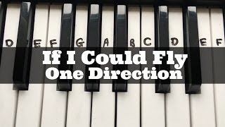 If I Could Fly - One Direction | Easy Keyboard Tutorial With Notes (Right Hand) Mp3