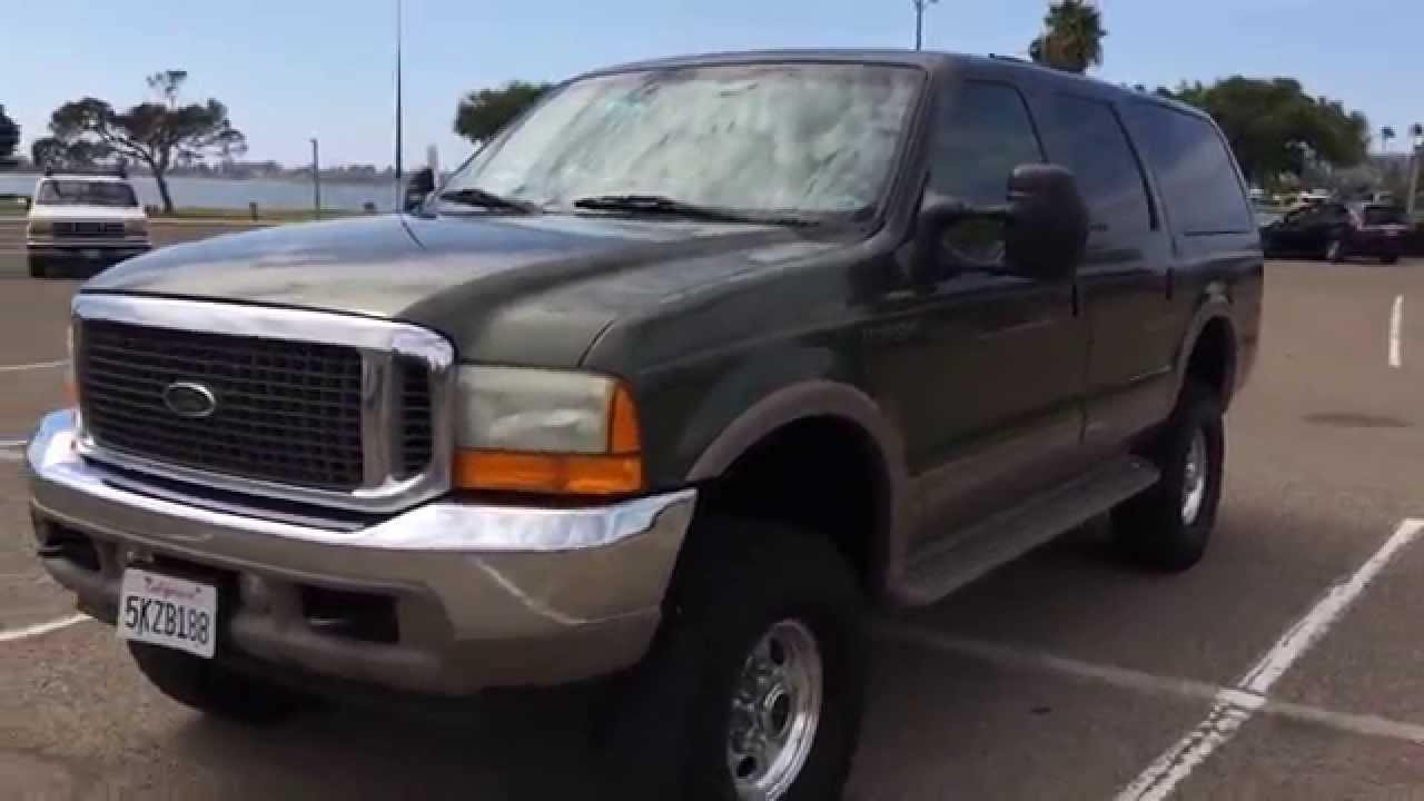 2001 ford excursion 7 3l 4x4 limited diesel lifted walk around for sale 142k miles leather youtube