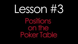 Positions on the Poker Table