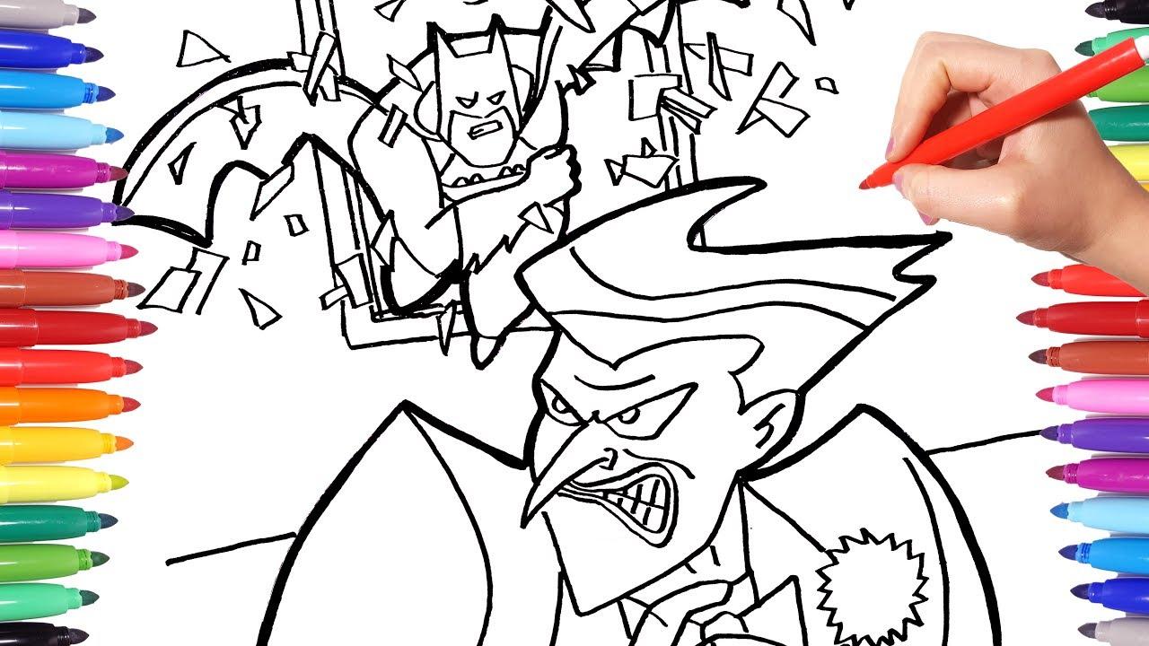 BATMAN vs JOKER Coloring Pages | How to Draw Batman and Joker ...
