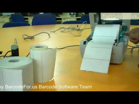 Replace paper roll in Zebra Thermal Printer video dailymotion