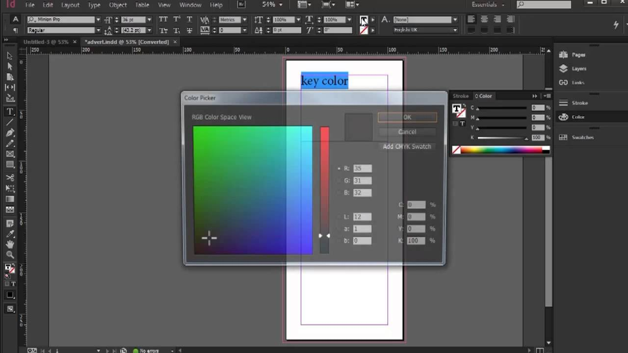 Creating Color - InDesign CC Tutorial [4/20]