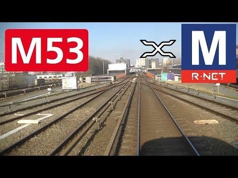 🚇 GVB R-net Amsterdam Metrolijn 53 Cabinerit Gaasperplas - Centraal Station Driver