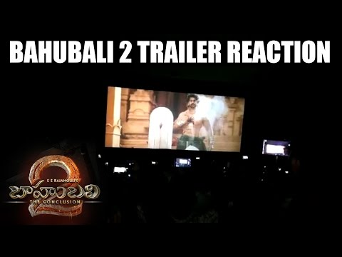 Thumbnail: Bahubali 2 The Conclusion Trailer Reaction at Theatres || Bahubali 2 Trailer Hungana at Theatres