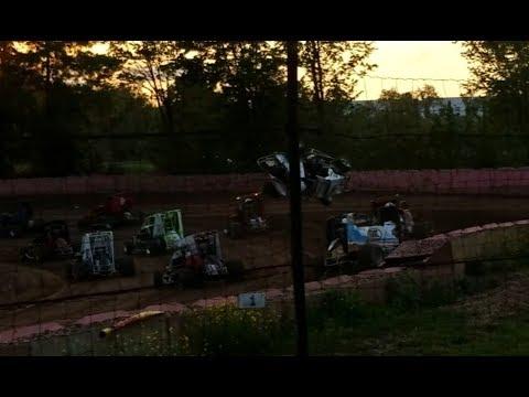 Linda's Speedway 5-25-18 Ben McGowan#08 Flip and Consi