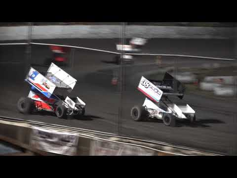 To see the battle to the checkered, skip to 1:40. - dirt track racing video image