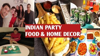 Indian Dinner party at home / How I organize my home 2018 / party food preparation/ living room tour